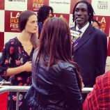 LOS ANGELES: Katherine and Longjones on the red carpet at Los Angeles Film Festival, June 2012