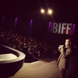 NORWAY: Frank Mugisha talks to 500 schoolchildren after a screening at the Bergen Film Festival, October 2012