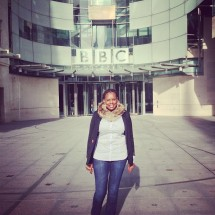 LONDON: Naome Ruzindana at the BBC after appearing on Woman's Hour, October 2012