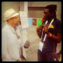 WASHINGTON, DC: Longjones discusses activism strategies with David France, director of HOW TO SURVIVE A PLAGUE, at the World AIDS Conference, Washington, DC, August 2012