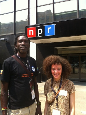 WASHINGTON, DC: Longjones and Malika after appearing on National Public Radio's Talk of the Nation, Washington, DC, June 2012