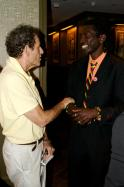 HOLLYWOOD: Long Jones meets film producer Howard Rosenman at a private screening of Call Me Kuchu in June 2012