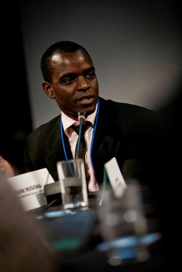 LONDON: Frank Mugisha of Sexual Minorities Uganda shares his thoughts on Call Me Kuchu during our pitch to potential advocacy partners at the Good Pitch Europe in London in June 2012