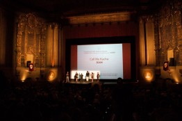 SAN FRANCISCO: Answering questions with Long Jones and Bishop Senyonjo after a phenomenal standing ovation following our screening at the infamous Castro Theater in June 2012