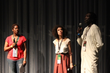 WASHINGTON, DC: Long Jones answers audience questions after the East Coast premiere at Silverdocs Film Festival in June 2012.