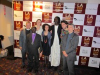 LOS ANGELES: We were joined at the US premiere of Call Me Kuchu by (L-R) Rev. Albert Ogle, Bishop Senyonjo, Long Jones, our composer Jon Mandabach, and Graeme Reid, LGBT Director at Human Rights Watch.